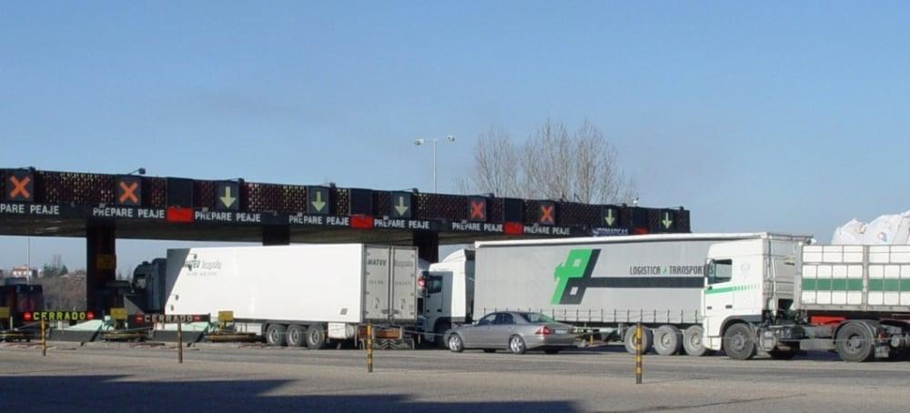 desvío de camiones