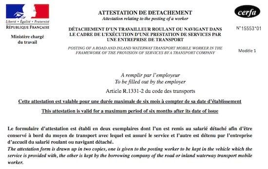 Certificado de desplazamiento