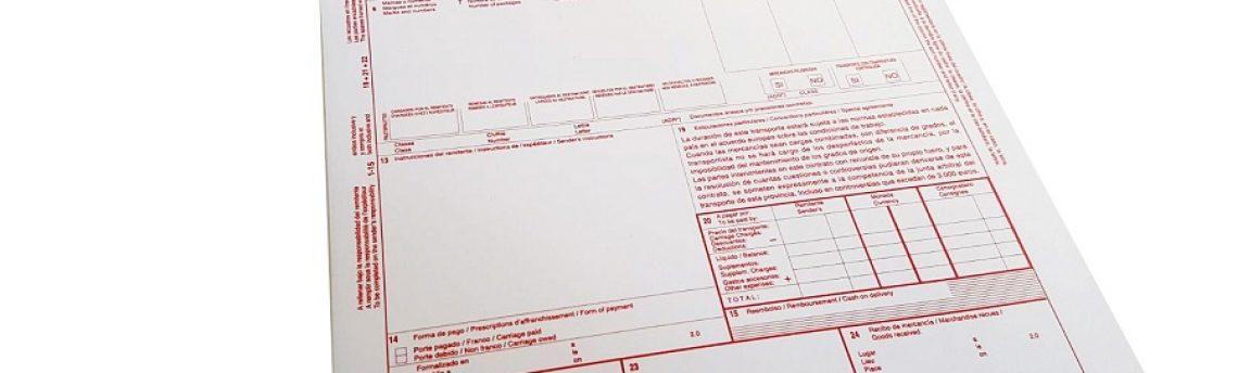 Tienda Online Documentos Transporte: Talonarios CMR y Carta de Porte