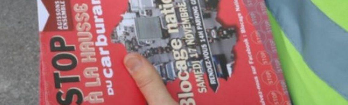 Movilizaciones de Protesta en Francia para mañana sábado 17 de noviembre