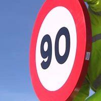 El límite a 90 km/h llega hoy a todas las carreteras convencionales