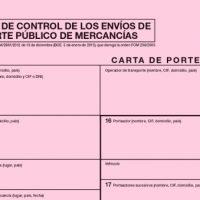 ROTT 2019 - Cambios en el contenido del documento de control o Carta de Porte