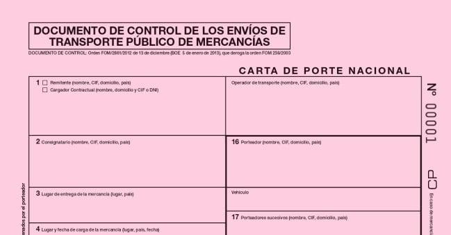 documento de control